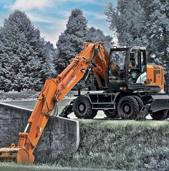19T-Wheeled-Excavator-Hitachi ZX190W
